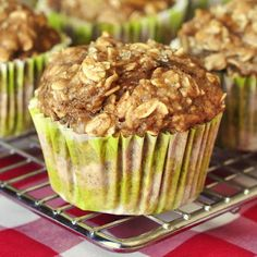 Low Fat Oatmeal Banana Apple Breakfast Muffins - Rock Recipes -The Best Food & Photos from my St.replace flour with oat flour Apple Breakfast, Healthy Breakfast Muffins, Breakfast Recipes, Muffin Recipes, Breakfast Potatoes, Low Fat Breakfast, Apple Banana Muffins, Oatmeal Muffins, Apple Oatmeal