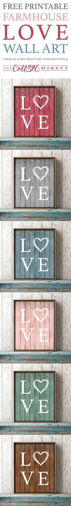 Free Printable Farmhouse Love Wall Art - The Cottage Market
