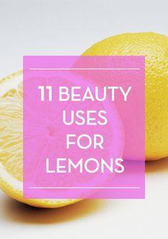 11 beauty uses for lemons.
