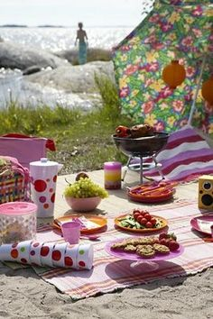 beachside picnic