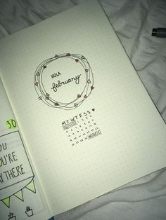 february monthly cover!! #bujoinspire #bulletjournal #bulletjournalfail #bujofail #february #monthlycover