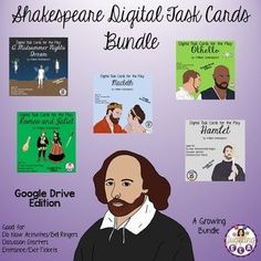 Many schools are going 1:1 and are trying to have paperless classrooms. These digital task cards are a great accompaniment to students reading different works of literature by William Shakespeare.There are currently 5 task card sets included in this money-saving bundle. Buying this bundle will save ...