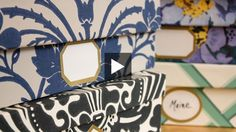 Watch Michael Penney give shoeboxes and budget cardboard magazine files a designer makeover by covering them with wallpaper.