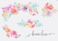 Fresca- Watercolor Flower Clip Art - Illustrations