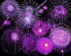 Purple fire works!!!