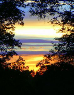 Sunset over Hi Level Golf Course, Kossuth, PA.