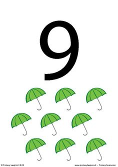 Flashcard: Number 9 - www.primaryleap.co.uk