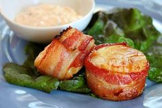 Bacon- Wrapped Scallops w/ Spicy Cilantro-Mayonnaise: mayonnaise ...