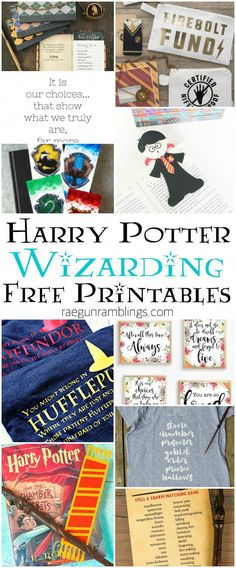 harry potter printables and wizarding quotes and cut files École Harry Potter, Harry Potter Bedroom, Harry Potter Baby Shower, Harry Potter Halloween, Harry Potter Christmas, Harry Potter Birthday, Halloween 2, Birthday Girl Quotes, Girl Birthday