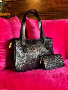 Hand tooled leather Chicana style
