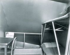 USS Macon Interior:  Officers berthing compartment.