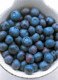 """""""A groundbreaking study published in the Journal of Nutrition in 2010 found a daily dose of the bioactive ingredients from blueberries increases sensitivity to insulin and may reduce the risk of developing diabetes in at-risk individuals... Low in naturally occurring sugars, blueberries are also packed with antioxidants that fight damage from free radicals, accelerated aging, and diseases like cancer and Alzheimer's. """""""