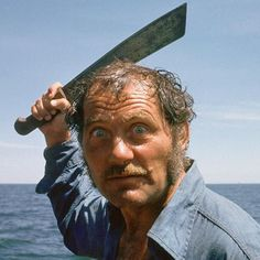 Robert Shaw in, 'JAWS' (1975).scarier n the shark in many ways.