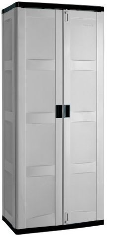 Sterilite 01428501 4 Shelf Utility Cabinet With Putty