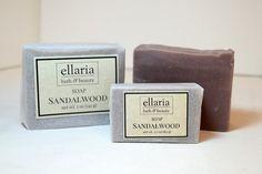 Sandalwood Soap  vegan cold process bar soap by EllariaHandmade