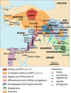 Mapa del Imperio Hitita.