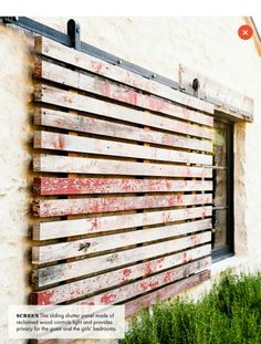 Sliding shutters for privacy - Screen - Ranch House Design Ideas to Steal - Sunset Mobile Rustic Houses Exterior, Shutter Doors, Window Shutters, Ranch Style, Outdoor Rooms, Window Coverings, Modern Rustic, Architecture Design, House Design