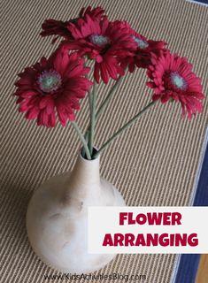 arrang idea, flower arrang, kid activities, life skills, practical life, practic life, blog, age 12, toddler age