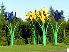 Huge Springtime Flowers!! Found on a roundabout in Glenrothes, Fife, Scotland. http://www.aboutbritain.com/towns/glenrothes.asp