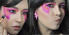 This Jem tutorial is the work of genius makeup artist Allison Emm! Find full details here! http://community.sparknotes.com/2014/06/25/jem-and-the-holograms-makeup-tutorial