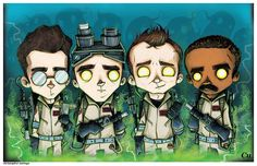 Art of Christopher Uminga : New Ghostbusters piece for New York Comic Con . Pencil drawing then colored in Sketchbook Pro