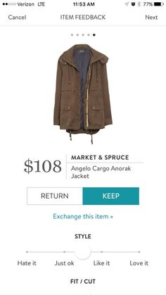 Market & Spruce Angelo Cargo Anorak Jacket. A unicorn for many! Perfect for a Joanna Gaines Fix! Try Stitch Fix to update your wardrobe with your own personal stylist. Use my link to get started! http://stitchfix.com/referral/7578631