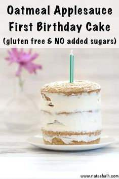 No Added Sugar Gluten Free First Birthday Cake This gluten free healthy smash cake recipe is perfect for your toddler's birthday celebration! - Healthy Smash Cake Recipe - No Added Sugar Gluten Free First Birthday Cake - The Artisan Life Smash Cake Recipes, Smash Recipe, Healthy Cake Recipes, Baby Food Recipes, Baby Food Cake Recipe, Healthy Smash Cakes, Homemade Smash Cake, Easter Recipes, Baby Cake Smash