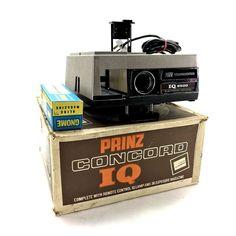 Vintage Prinz Concord IQ 2500 Electronic Focusing F Hanimar Projector Projectors For Sale, Remote, Vintage, Ebay, Vintage Comics, Primitive, Pilot