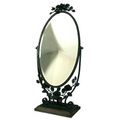 1stdibs.com | French Art Deco Period Wrought Iron Table Mirror