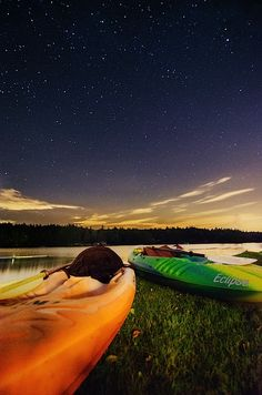 """How to Photograph the Stars. Article and photo by John Davenport. Photo: """"Kayaks Under the Stars"""" shot with ISO of 1250 an aperture of f/2.8 and an exposure of 30 seconds.   digital-photography-school.com/how-to-photograph-the-stars#ixzz24rFUqiVJ"""