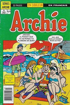 GCD :: Cover :: Archie #203 Comic Book Characters, Comic Character, Comic Books, Archie Comics Riverdale, Archie And Betty, Best Book Reviews, Charlton Comics, Comic 8, Betty And Veronica