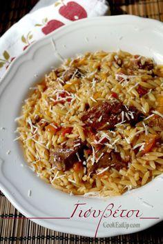 Healthy Greek Recipes, Organic Recipes, Cookbook Recipes, Meat Recipes, Cooking Recipes, Pasta Dishes, Food Dishes, Greek Menu, Greek Pasta