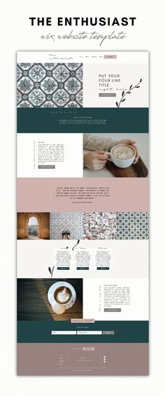 The ENTHUSIAST Wix Website Template is a feminine, natural layout design, with beautiful features to make it stand out. It's perfect for any service-based entrepreneur, freelancer or side-hustler. If you also sell products or courses, you can easily add e-commerce to your site. The ENTHUSIAST Template is easily customizable and can be branded with your logo, colors, fonts, and images to fit your business. Site Design, Layout Design, Web Design, Brand Identity Design, Branding Design, Branding Process, Business Checks, Logo Color, Website Template