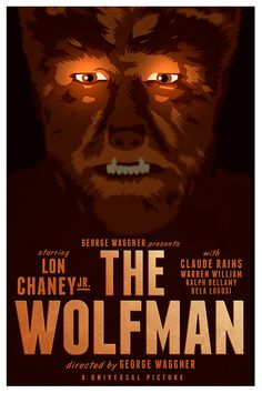 Limited edition Movie poster 'The Wolfman' 1941 by Kinographics