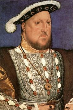 Henry VIII by Hans Holbein, 1536 , note the exquisite blackwork embroidery on the tunic. Blackwork was also known as Spanish Stitch as it was thought to have been brought to England by Henry's first wife from Spain. Charles Viii, King Henry Viii, Renaissance Portraits, Renaissance Art, Tudor History, Art History, European History, British History, Heinrich Viii