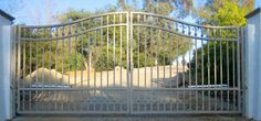 WROUGHT IRON DRIVEWAY GATE OR7