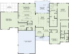 First Floor Plan of House Plan 82311