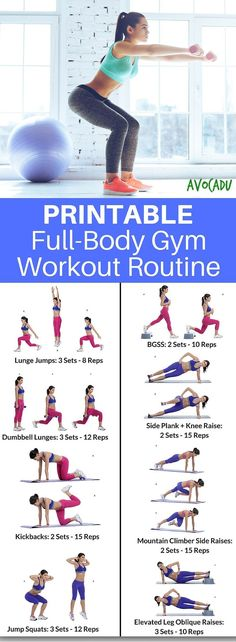 Printable Gym Routine | Full-Body Gym Workout Routine | At-Home Workouts | Workout Plan | https://avocadu.clickfunnels.com/sales-pagenz5uremc