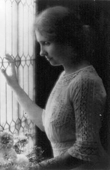 Helen Keller (1880 - 1968) was well-traveled, and outspoken in her opposition to war. A member of the Socialist Party of America, she campaigned for women's suffrage, workers' rights.