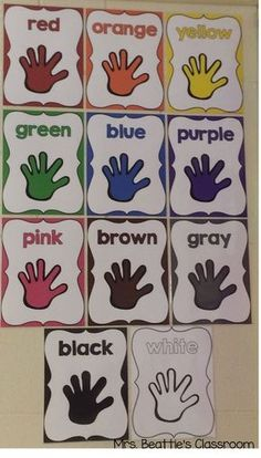 Use these colorful posters from Mrs. Beattie's Classroom to dress up your classr… Use these colorful posters from Mrs. Beattie's Classroom to dress up your classroom and teach your students to recognize colors! Kindergarten Classroom Decor, Classroom Activities, In Kindergarten, Toddler Classroom Decorations, Infant Classroom Ideas, Owl Classroom Decor, Childcare Activities, Kindergarten Graduation, Preschool Colors