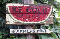 ice cold watermelon sign primitive roadside - Google Search