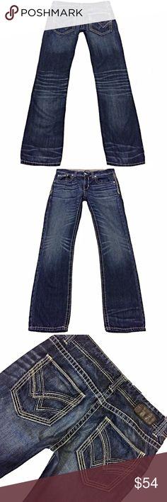 "BKE Buckle Black ""3 Fit"" Men's SZ 33 Boot Jeans Very nice pair of BKE Buckle Black ""3 Fit"" Men's SZ 33 Boot Cut Med Wash Blue Jeans Measurements: Waist: 34"" Hips: 44"" Front rise: 10"" Back rise: 14.5"" Inseam: 35"" BKE Jeans Bootcut"