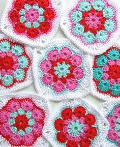 HaakKamer7: Granny African Flower '-free crochet pattern. FREE PRINTABLE PATTERN 4/14.