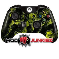 Hydro Dipped Yellow Reaper Zombie Xbox ONE Controller