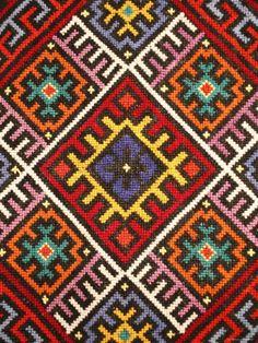 Crochet Border Stitch Photographic Print: Traditional embroidery, Zakarpattia Oblast, Transcarpathia, Ukraine by Ivan Vdovin : - Folk Embroidery, Embroidery Patterns, Cross Stitch Patterns, Machine Embroidery, Crochet Borders, Tapestry Crochet, Antique Quilts, Bargello, Country Primitive