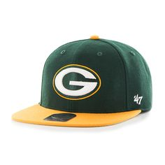 5ff2fc3bc4119c Green Bay Packers Lil Shot Two Tone Captain Dark Green 47 Brand YOUTH Hat