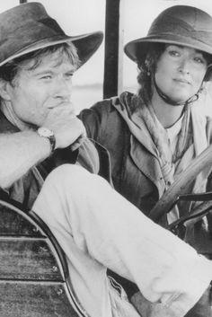 """Out of Africa"" Robert Redford & Meryl Streep as Denys Finch Hatton & Karen Blixen. Robert Redford, Meryl Streep, Karen Blixen, Beau Film, Damir Doma, Safari, Tropical Island, Les Accents, Indiana Jones"