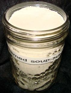 I was tired of paying over a dollar for Campbells soups when a friend gave me this recipe.  It doesnt take much extra work, and its so much healthier!  Its been months since I bought a can of cream of mushroom, cream of chicken, cream of celery, cheddar cheese, or tomato soup... helping my budget and my health at the same time. :)