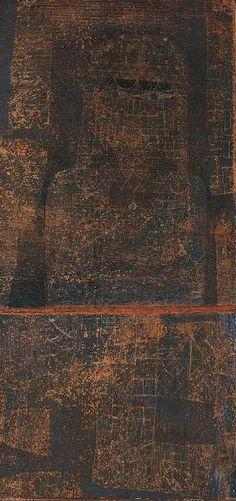 """Paul Klee  'Arabian Bride'   1924  Watercolor and oil on wove papers, mounted on wove papers,mounted on thin cardboard  13 1/4 x 6 1/2"""""""
