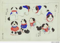 The Ningyo-Do Bunko Database has a wealth of super lovely late 19th too early 20th century watercolour sketch designs of japanese toys.